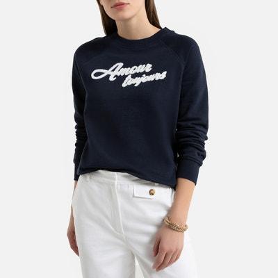 Sweater met geborduurde tekst Sweater met geborduurde tekst LA REDOUTE COLLECTIONS