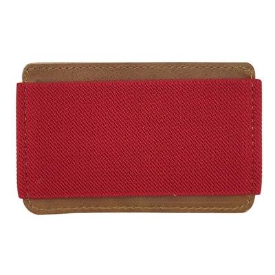 Porte-cartes cuir avec élastique rouge DAGOBEAR f4d27569782