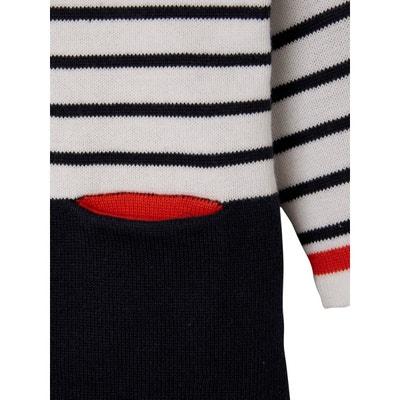 b5e8236875533 Robe rayée bébé fille en tricot Robe rayée bébé fille ...