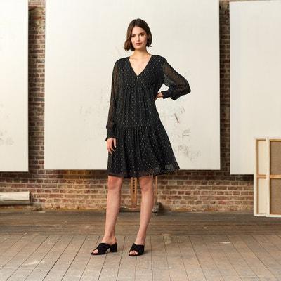 ebb47f86e168f5 Wijd uitlopende jurk