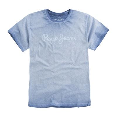 Camiseta con cuello redondo y estampado delante Camiseta con cuello redondo y estampado delante PEPE JEANS