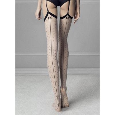 Collant couture à pois en voile 20d INTRIGUE Collant couture à pois en  voile 20d INTRIGUE. FIORE 83a363500b0