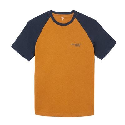 T-shirt met ronde hals en korte raglanmouwen T-shirt met ronde hals en korte raglanmouwen LA REDOUTE COLLECTIONS