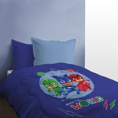 200 x 140 cm Pyjamasques Housse de Couette avec Taie doreiller Parrure Pjmasks