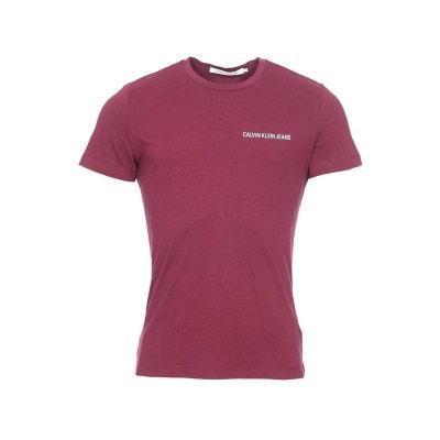 Tee-shirt slim col rond Chest Institutional en coton floqué en CALVIN KLEIN  JEANS 0d82e1d1745