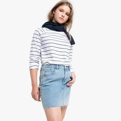 Gestreept T-shirt met lange mouwen 10-18 jaar Gestreept T-shirt met lange mouwen 10-18 jaar LA REDOUTE COLLECTIONS
