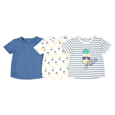 2c92fa8a8c6b4 Lot de 3 T-shirts 1 mois-4 ans Oeko-Tex Lot de