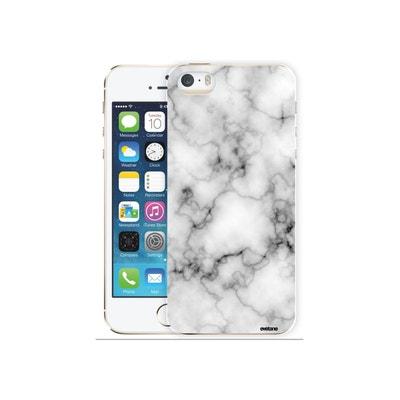 15bd210e407 Coque iPhone SE   5S   5 rigide transparente Marbre blanc Ecriture Tendance  et Design Evetane