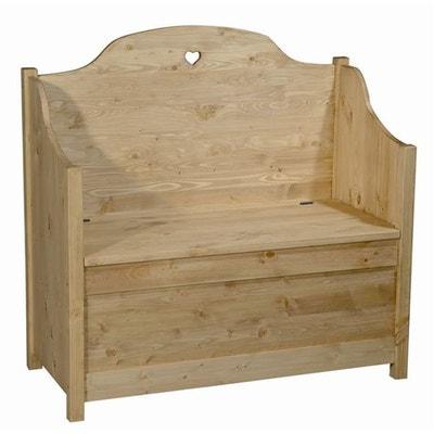 Banc en bois avec coffre de rangement | La Redoute