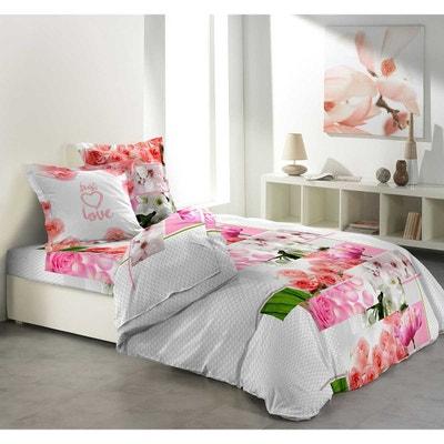 parure de drap fleurie la redoute. Black Bedroom Furniture Sets. Home Design Ideas