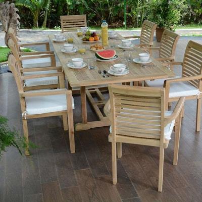 Salon De Jardin En Teck Ecograde Kingston Table Extensible 180 A 240 M 8