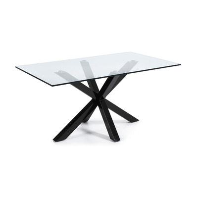 Table En Verre Noir La Redoute