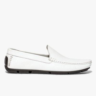 Chaussures Homme Mocassins sports en cuir Blanc