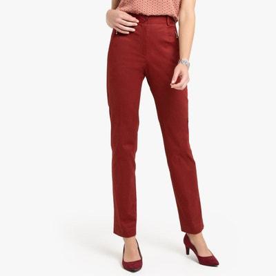 3378f7160b380 Pantalon, satin de coton stretch Pantalon, satin de coton stretch ANNE  WEYBURN