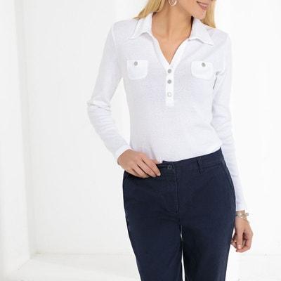 0089a0747c T-shirt col polo, pur coton peigné T-shirt col polo, pur