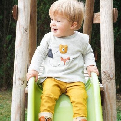 Sweater in molton met applicaties 0 mnd-2 jaar Sweater in molton met applicaties 0 mnd-2 jaar LA REDOUTE COLLECTIONS