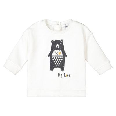 Sweater in molton bedrukt biokatoen 0 mnd-2 jaar Sweater in molton bedrukt biokatoen 0 mnd-2 jaar LA REDOUTE COLLECTIONS