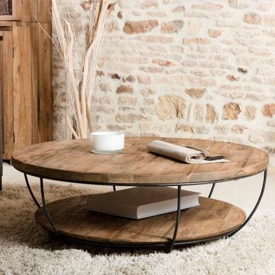 Table basse de salon ronde en bois   La Redoute