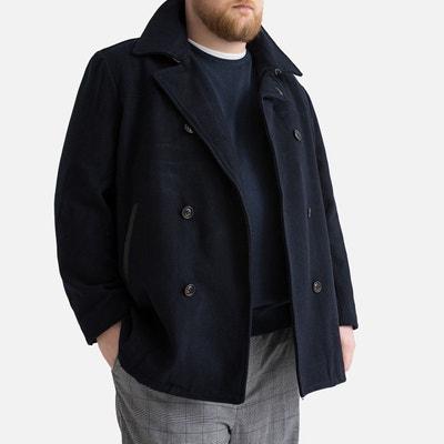 premium selection low price wholesale dealer Manteau laine homme bleu marine   La Redoute