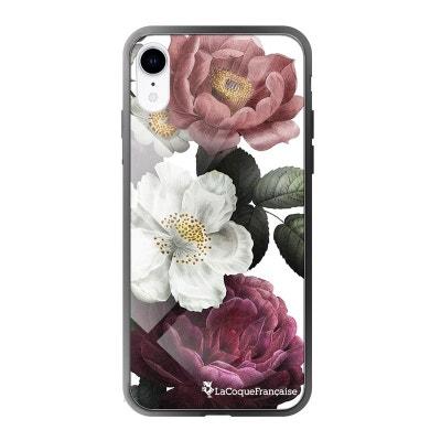 iphone xr coque fleur blanche