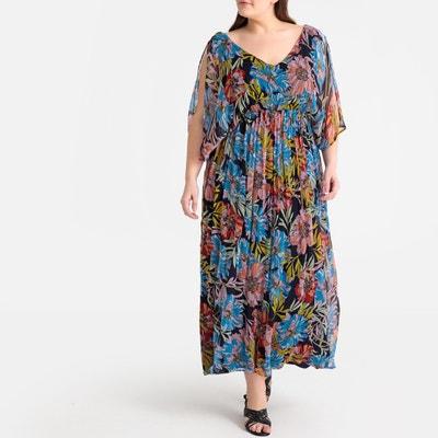 9ff5e0d83f Floral Print Pleated Split-Sleeve Maxi Dress Floral Print Pleated  Split-Sleeve Maxi Dress