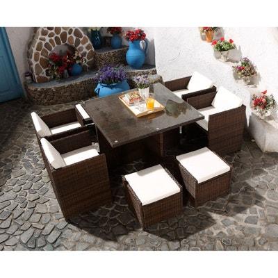Salon de jardin resine tressee 8 places | La Redoute