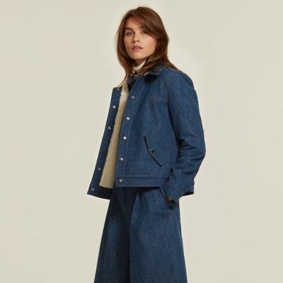 Women's Levis Xadrez lã mistura casaco Branco E Preto