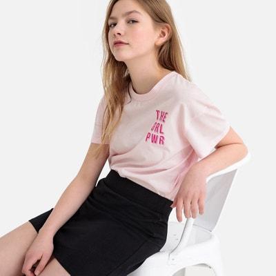 Falda recta con cintura elástica 10-16 años LA REDOUTE COLLECTIONS c771ee5dc0b4