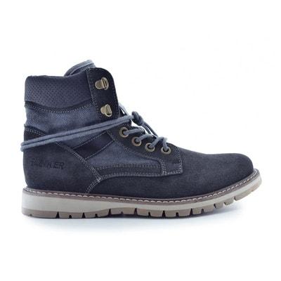 2d4ab2d9c9d6 Boots croûte de cuir vachette BUNKER