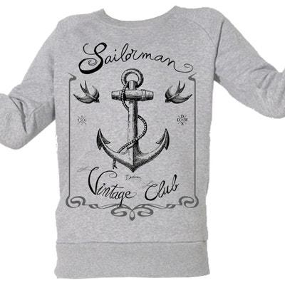 f79346196ee53 Sweat-shirt Imprimé Bio Enfant du 3 au 11 ans Club voile Vintage Sweat-