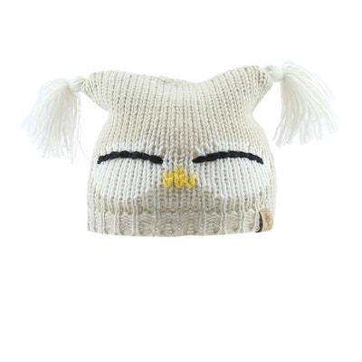 3903723bac553 Bonnet laine Hibou tricot doublé polaire Bedford Road Bonnet laine Hibou  tricot doublé polaire Bedford Road