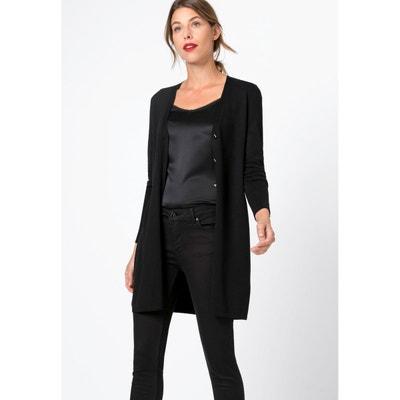professionnel de la vente à chaud vente à bas prix parcourir les dernières collections Gilet long noir a bouton femme | La Redoute