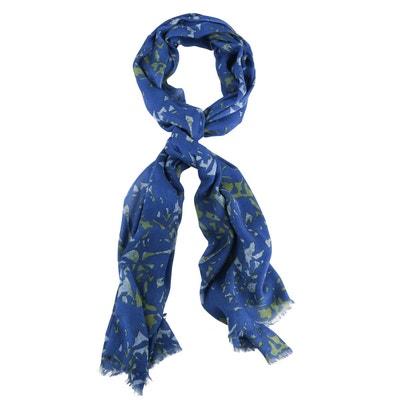d37f7eae8793 Echarpe ete tissee jacquard bleue CARNET DE VOL
