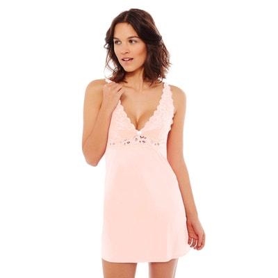 bon ajustement baskets marque célèbre Nuisette dentelle rose | La Redoute