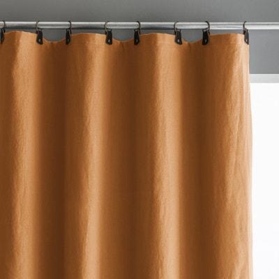 Verduisteringsgordijn in gewassen linnen met lussen in leer, Private Verduisteringsgordijn in gewassen linnen met lussen in leer, Private AM.PM