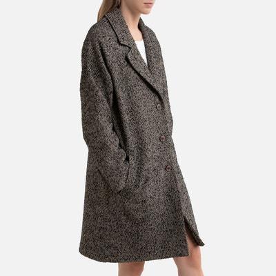 Manteau en lainage tweed bleu harris wilson