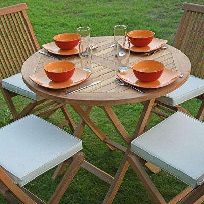 Ensemble table, chaise de jardin TECK ATTITUDE | La Redoute