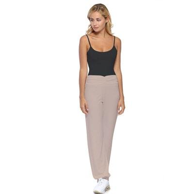 056ad3ff413f Pantalon coupe fluide taille élastique avec fronces en maille modal SALLY Pantalon  coupe fluide taille élastique