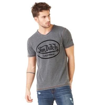 T shirt v homme gris   La Redoute