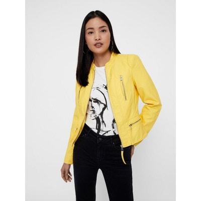 Veste en jean jaune h&m