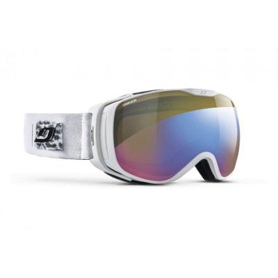 c860641cedcd2a Masque de ski pour femme JULBO Blanc LUNA BLANC Panthère CAMELEON JULBO