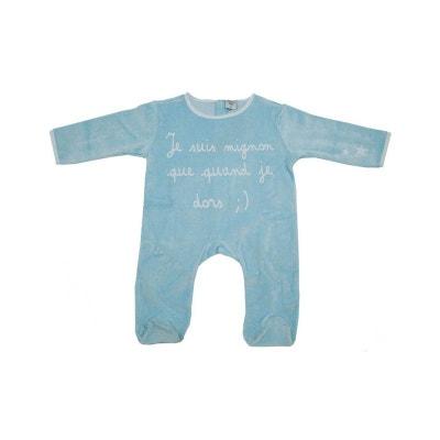 Pyjama bébé bleu 12 mois je suis mignon POUSSIN BLEU e20dd9260e4