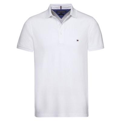 6f724da4d Luxury Cotton Piqué Polo Shirt with 3-Button Collar TOMMY HILFIGER