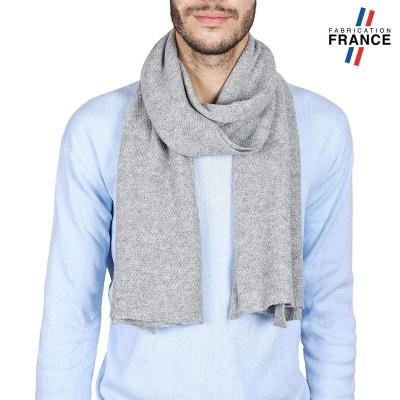 5f870c24f1b84 Echarpe Homme SOLAS Grise - Fabriqué en France QUALICOQ