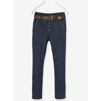 Pantalon chino garçon avec ceinture VERTBAUDET 88b49699685