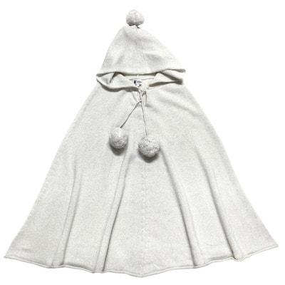 f093486a4d843 Poncho pailleté à capuche en laine et cachemire Poncho pailleté à capuche  en laine et cachemire