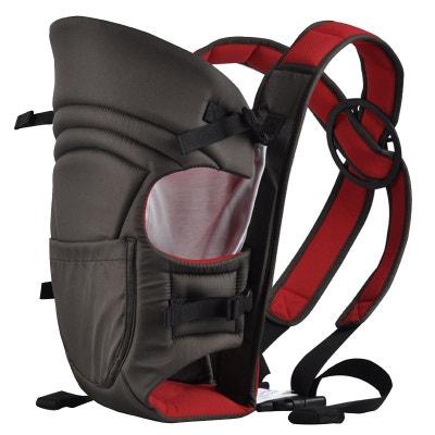 Porte bébé ventral 2 positions + poche de rangement - Noir et rouge Porte  bébé ventral c4f0bce7dfd