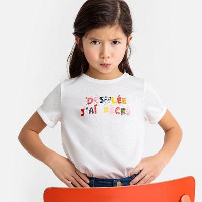 6af6f9878cea9 T-shirt avec message devant 3-12 ans LA REDOUTE COLLECTIONS