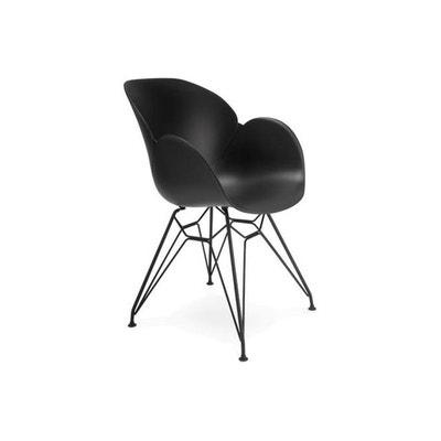 Chaise Design En Plastique Noir EDEN DECLIKDECO