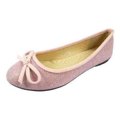 e6854782c5a Ballerines en toile et brillante à noeud chaussure femme